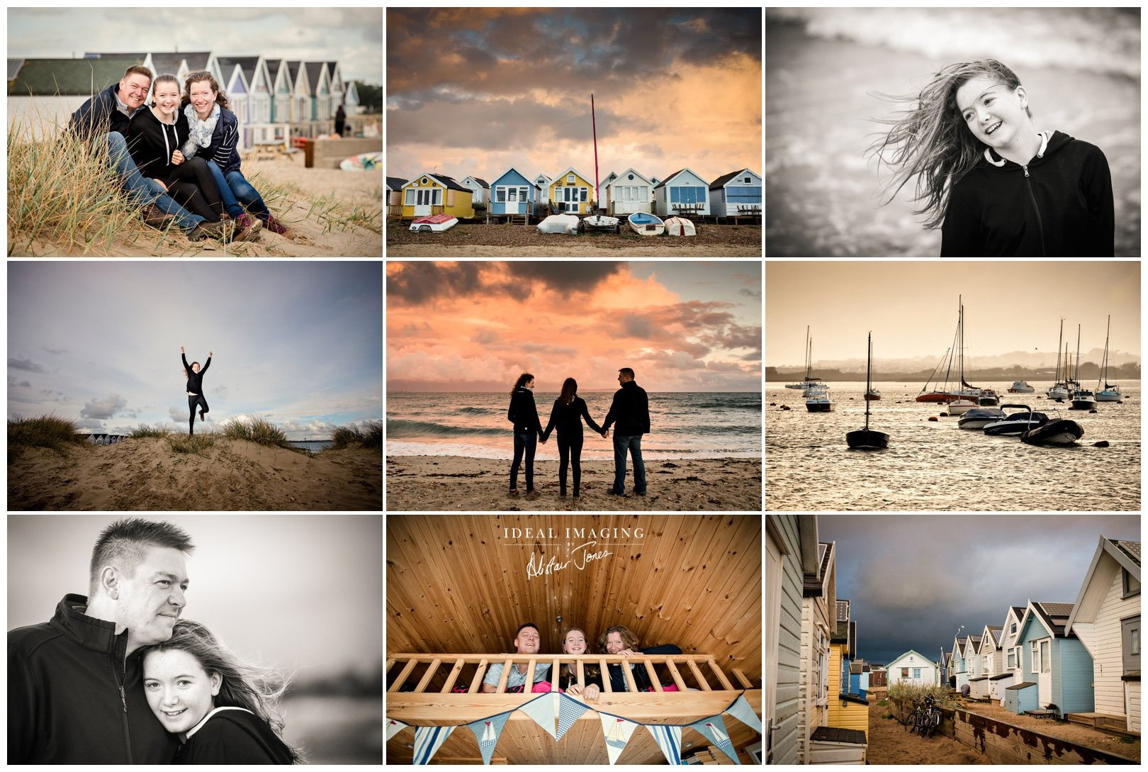 Beach Family Photographer: The Ponting Family at Mudeford Spit