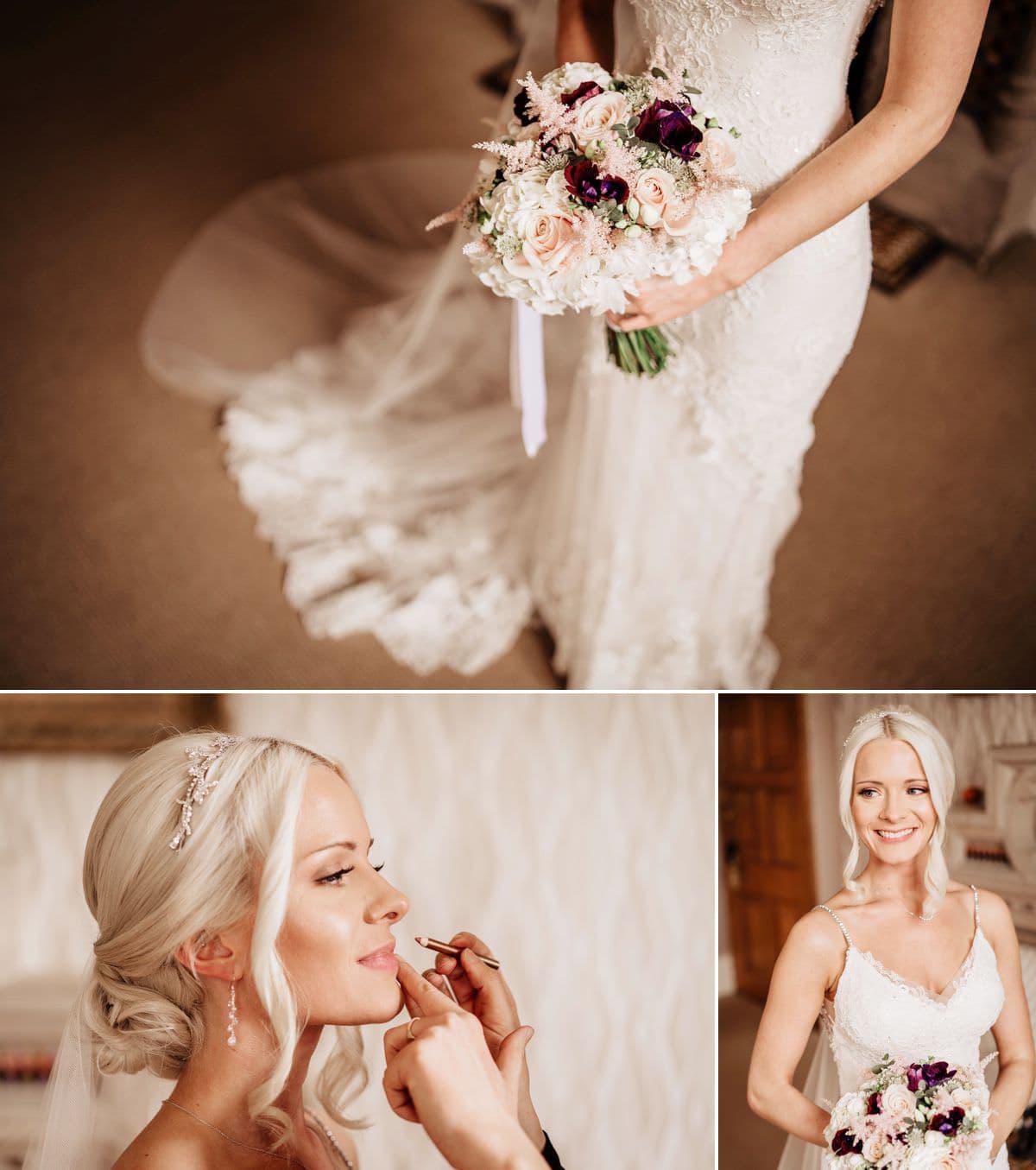 Bridal preps at the Elvetham Seymour Room