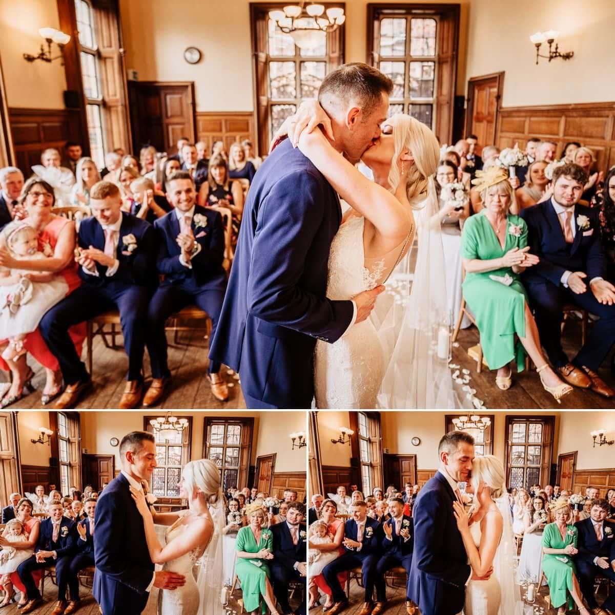 wedding ceremony oak room the elvetham