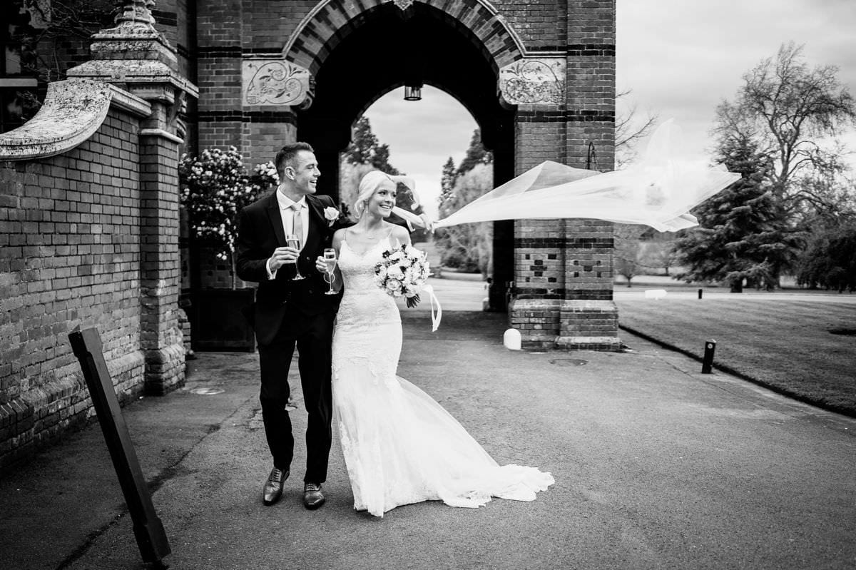 bride and groom at the elvetham wedding