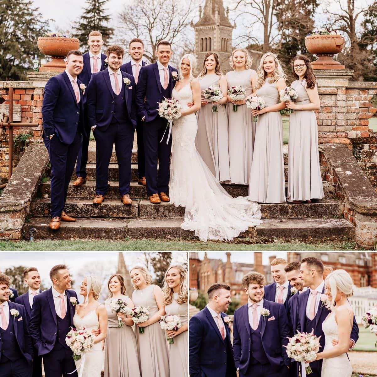 bridal party at the elvetham